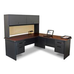 MLGPRNT6DTMA_8561 - Marvel GroupPronto® Desk w/Return & Pedestal