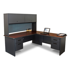 MLGPRNT6DTMA_8568 - Marvel GroupPronto® Desk w/Return & Pedestal