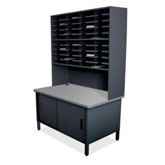 MLGUTIL0064BK - Marvel Group40 Slot Mailroom Organizer with Cabinet, Riser