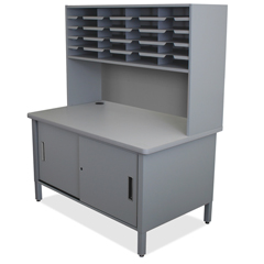 MLGUTIL0070AT - Marvel Group20 Slot Mailroom Organizer with Cabinet, Riser