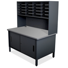 MLGUTIL0070BK - Marvel Group20 Slot Mailroom Organizer with Cabinet, Riser