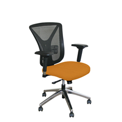 MLGWMCEXFA-F6551 - Marvel GroupExecutive Mesh Chair, Orange Fabric/Aluminum Base