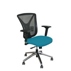 MLGWMCEXFA-F6553 - Marvel GroupExecutive Mesh Chair, Teal Fabric/Aluminum Base