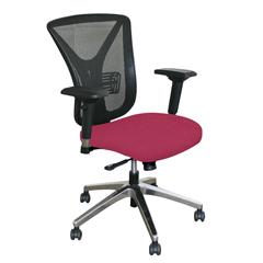 MLGWMCEXFA-F6557 - Marvel GroupExecutive Mesh Chair, Raspberry Fabric/Aluminum Base