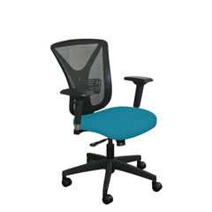 MLGWMCEXFB-F6553 - Marvel GroupExecutive Mesh Chair, Teal Fabric/Black Base