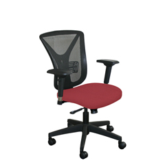 MLGWMCEXFB-F6557 - Marvel GroupExecutive Mesh Chair, Raspberry Fabric/Black Base