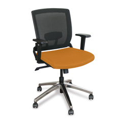 MLGWMCOPFA-F6551 - Marvel GroupOperational Mesh Chair, Orange Fabric/Aluminum Base