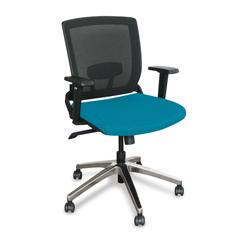 MLGWMCOPFA-F6553 - Marvel GroupOperational Mesh Chair, Teal Fabric/Aluminum Base