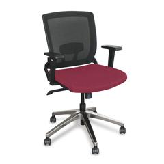MLGWMCOPFA-F6557 - Marvel GroupOperational Mesh Chair, Raspberry Fabric/Aluminum Base