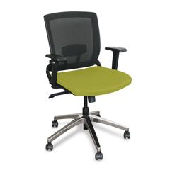 MLGWMCOPFA-F6561 - Marvel GroupOperational Mesh Chair, Lime Fabric/Aluminum Base