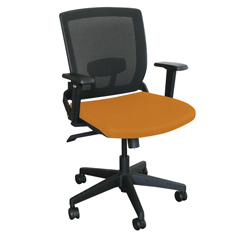 MLGWMCOPFB-F6551 - Marvel GroupOperational Mesh Chair, Orange Fabric/Black Base
