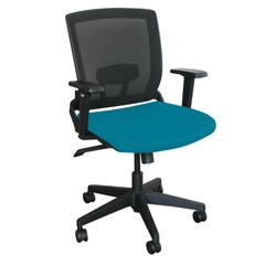MLGWMCOPFB-F6553 - Marvel GroupOperational Mesh Chair, Teal Fabric/Black Base