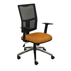 MLGWMCTKFA-F6551 - Marvel GroupTask Mesh Chair, Orange Fabric/Aluminum Base