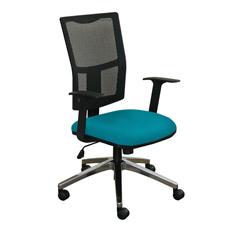 MLGWMCTKFA-F6553 - Marvel GroupTask Mesh Chair, Teal Fabric/Aluminum Base