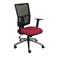 MLGWMCTKFA-F6557 - Marvel GroupTask Mesh Chair, Raspberry Fabric/Aluminum Base