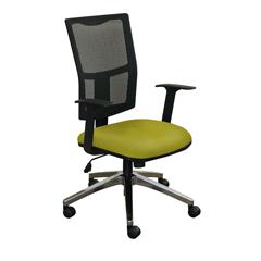 MLGWMCTKFA-F6561 - Marvel GroupTask Mesh Chair, Lime Fabric/Aluminum Base