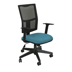 MLGWMCTKFB-F6553 - Marvel GroupTask Mesh Chair, Teal Fabric/Black Base