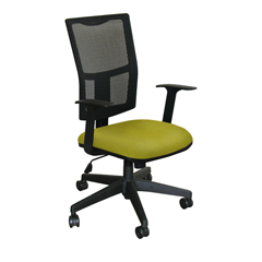 MLGWMCTKFB-F6561 - Marvel GroupTask Mesh Chair, Lime Fabric/Black Base