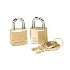 MLK120T - Master Lock® Twin Brass 3-Pin Tumbler Lock