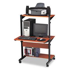 MLN8432SOMECBLK - Mayline® Soho™ Adjustable Mobile Computer Table
