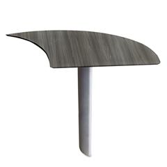 MLNMNEXTRLGS - Mayline® Medina™ Series Laminate Curved Desk Extension