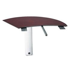MLNNEXTLMAH - Mayline® Napoli™ Veneer Series Left Curved Desk Extension