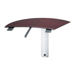 MLNNEXTRMAH - Mayline® Napoli™ Veneer Series Right Curved Desk Extension