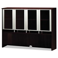 MLNNH63MAH - Mayline® Napoli™ Veneer Series Hutch with Glass Doors