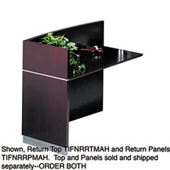 MLNNRRTMAH - Mayline® Napoli™ Veneer Series Desk Return Top