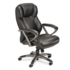 MLNUL350HBLK - Mayline® Leather Seating Mid-Back Chair