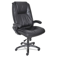 MLNULEXBLK - Mayline® Leather Seating Series Executive High-Back Swivel/Tilt Chair