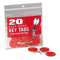 MMF201800207 - MMF Industries™ Snap-Hook Self-Locking Octagonal Key Tags
