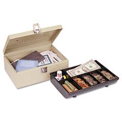 MMF221612003 - STEELMASTER® by MMF Industries™ Heavy-Duty Steel Cash Box with Locking Latch
