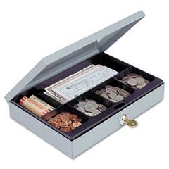 MMF221618001 - STEELMASTER® by MMF Industries™ Locking Heavy-Duty Steel Low-Profile Cash Box
