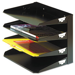 MMF264R4HBK - STEELMASTER® by MMF Industries™ Multi-Tier Steel Horizontal Organizers