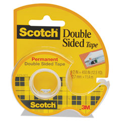 MMM137 - Scotch® 665 Double-Sided Permanent Office Tape in Hand Dispenser