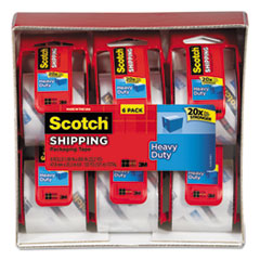 Scotch Heavy Duty Packaging Tape(6 pack/VALUE PACK!)