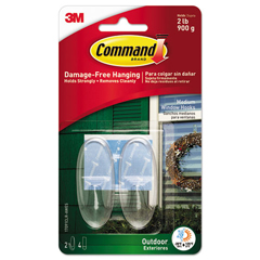 MMM17091CLRAWES - Command™ All Weather Hooks and Strips