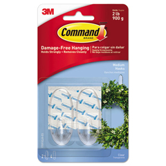 MMM17091CLRES - Command™ Clear Hooks and Strips