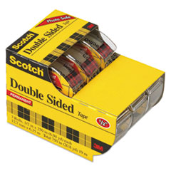 MMM3136 - Scotch® 665 Double-Sided Permanent Office Tape in Hand Dispenser