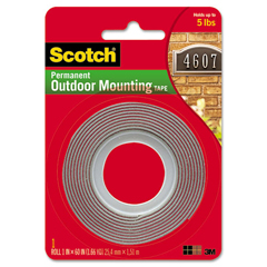 MMM411P - Scotch® Permanent Heavy Duty Interior/Exterior Mounting Tape