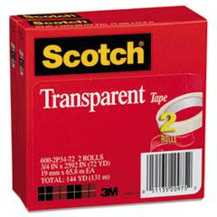 MMM6002P3472 - Scotch® Transparent Glossy Tape
