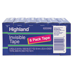 MMM6200K6 - Highland™ Invisible Permanent Mending Tape