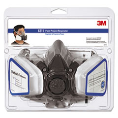 MMM6211PA1A - 3M Half Facepiece Paint Spray/Pesticide Respirator