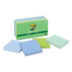 MMM65412SST - Post-it® Recycled Notes in Bora Bora Colors