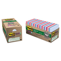 MMM65424NHCP - Post-it® Recycled Notes in Bali Colors