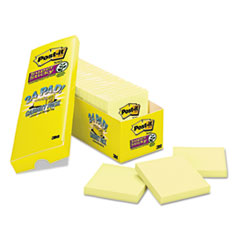 MMM65424SSCP - Post-it® Notes Super Sticky Pads in Canary Yellow