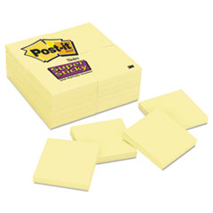 MMM65424SSCY - Post-it® Notes Super Sticky Pads in Canary Yellow