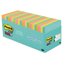 MMM65424SSMIACP - Post-it® Super Sticky Pads in Miami Colors