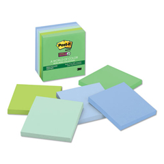 MMM6545SST - Post-it® Recycled Notes in Bora Bora Colors